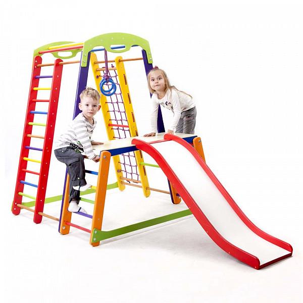 Акция! Деревянный детский Спортивный комплекс для дома для малышей Спортбейби   Кроха - 1 Plus 1-1 SportBaby