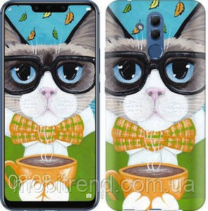 Чехол на Huawei Mate 20 Lite Cat&Coffee