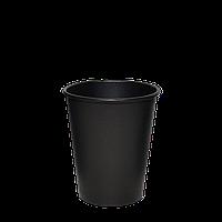 """Стакан бумажный """"Настроение ЧЁРНЫЙ"""" 250 мл (евро стандарт) 50шт/уп (1ящ/20уп/1000шт) (FiB 80/КВ79/РОМБ79), фото 1"""