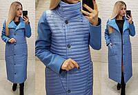 Пальто куртка кокон арт. 138 джинс, фото 1