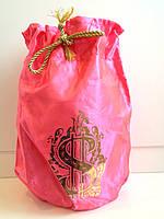 Свадебный мешочек для денег алый