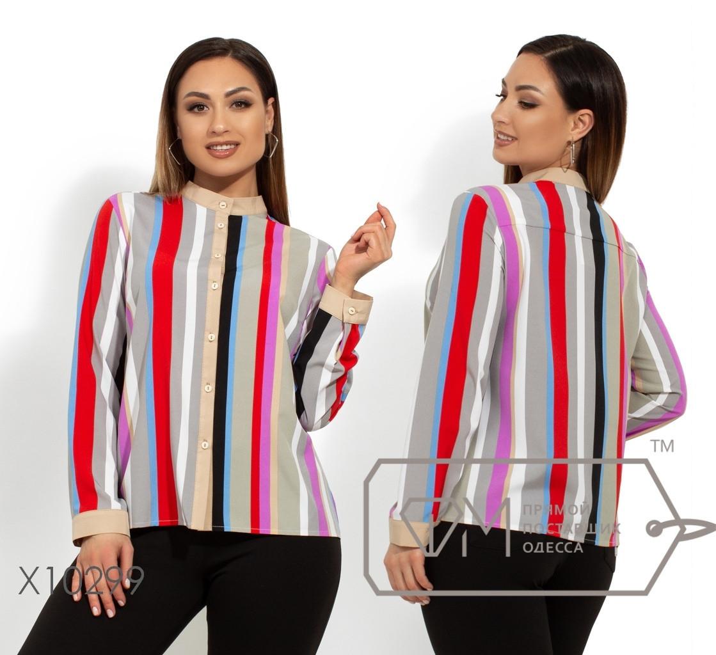 Женская блуза в полоску в больших размерах 1ba1461