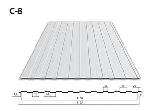 Профнастил С-8 Цинк (0.35 мм)