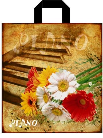 "Пакет с петлевой ручкой  ср п ""Пиано 8126""(38х42+3) 90мк ДПА (50 шт)"