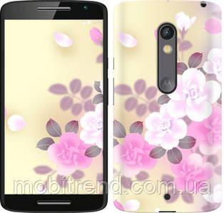 Чехол на Motorola Moto X Play Японские цветы