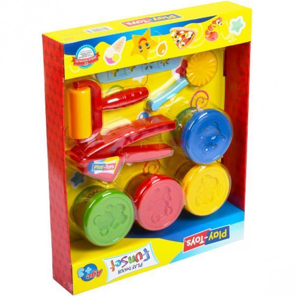 Игровое тесто «Play-Toys» 4×80 г. в коробке 6785