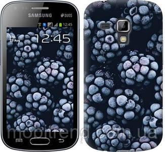 Чехол на Samsung Galaxy S Duos s7562 Морозная ежевика