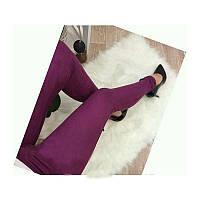 Модные замшевые леггинсы, бордовый, леггинсы женские