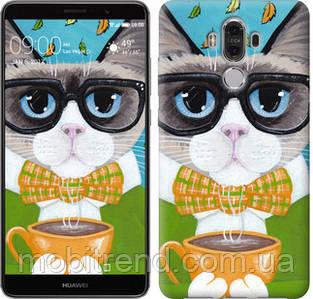 Чехол на Huawei Mate 9 Cat&Coffee