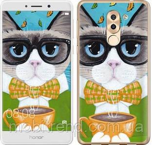 Чехол на Huawei GR5 2017 Cat&Coffee