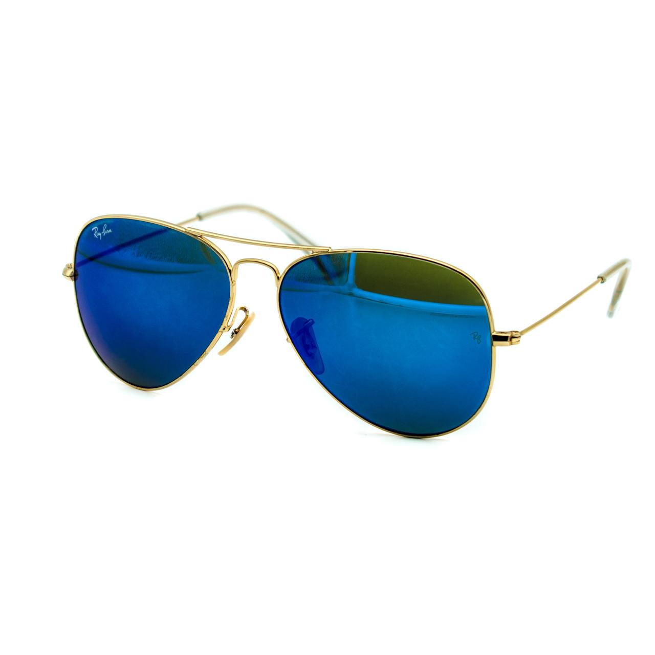 Очки Ray Ban Aviator синие (replica)