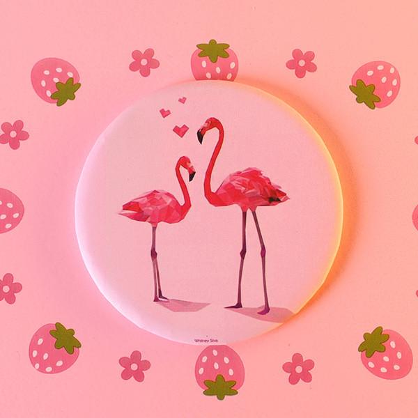 Зеркало карманное Фламинго