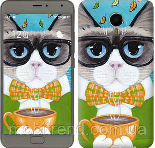 Чехол на Meizu Metal Cat&Coffee