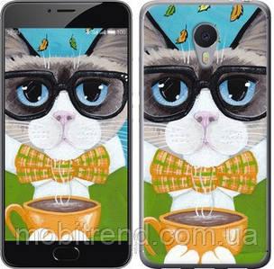 Чехол на Meizu M3 Note Cat&Coffee