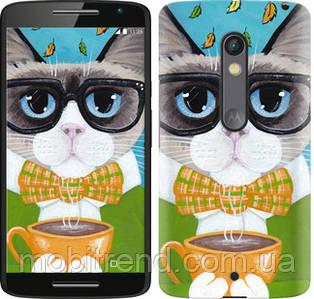 Чехол на Motorola Moto X Play Cat&Coffee