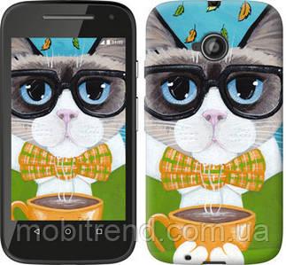 Чехол на Motorola Moto E2 Cat&Coffee