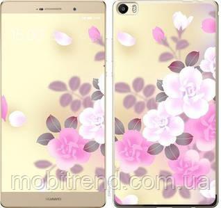 Чехол на Huawei P8 Max Японские цветы