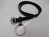 Женский кожаный ремень с кольцом 20 мм., реплика 930867