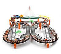 Большая железная дорога с мостом 2в1