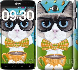 Чехол на LG G Pro Lite Dual D686 Cat&Coffee