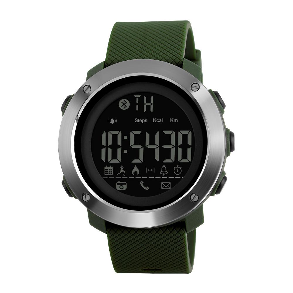 Skmei 1285 small зеленые мужские  спортивные смарт часы
