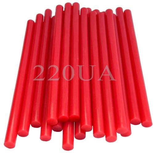 Термоклей діаметр 11мм, довжина 200мм, червоний, 1кг