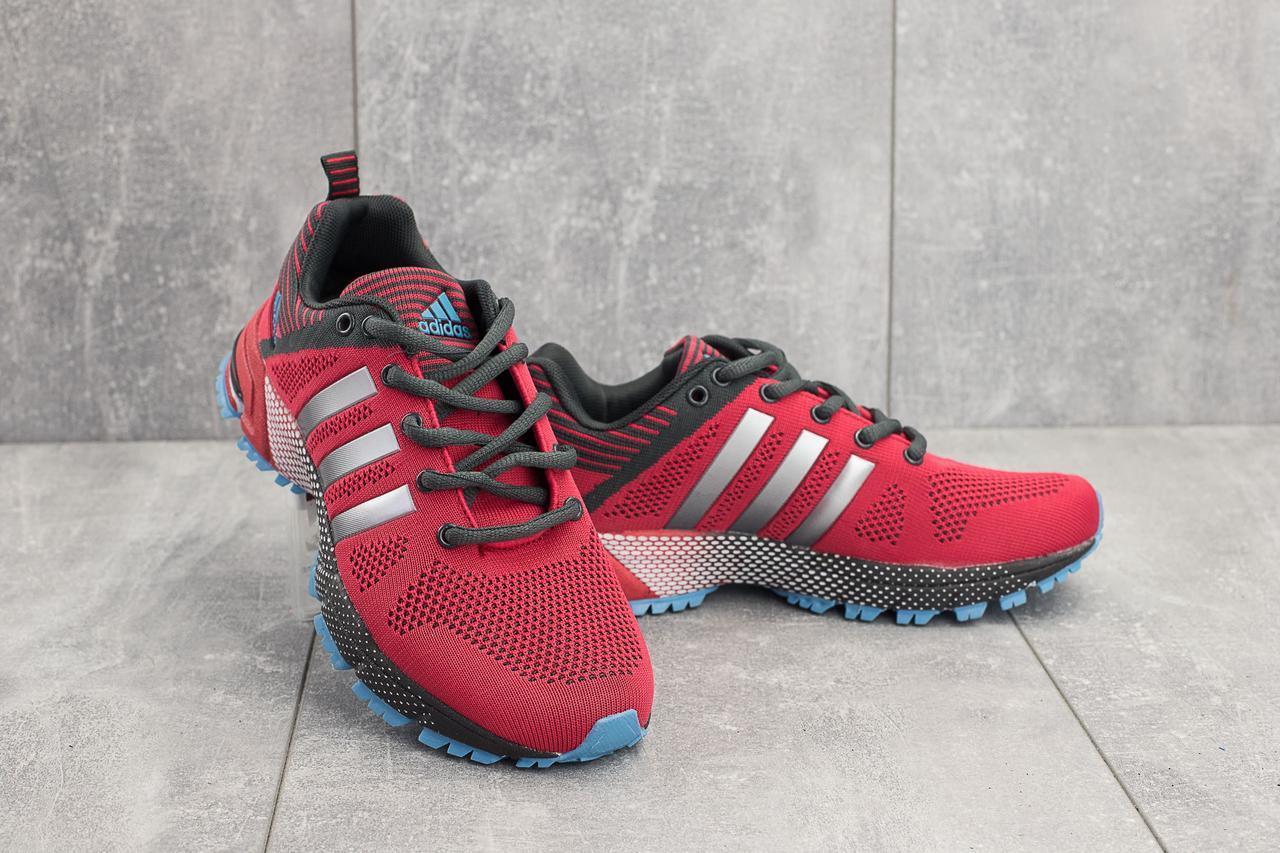 Кроссовки G 3078 2 (Adidas Marathon) (веснаосень, женские, текстиль, красный)