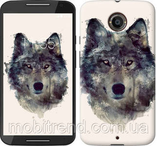 Чехол на Motorola Moto X2 Волк-арт