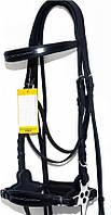 Вуздечка для коня безтрензельная + хакамора + поводи, фото 1