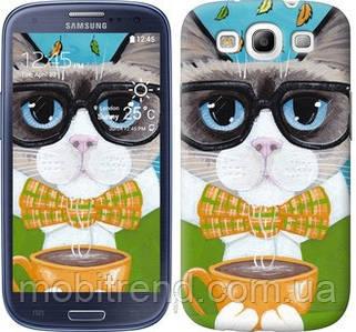 Чехол на Samsung Galaxy S3 Duos I9300i Cat&Coffee