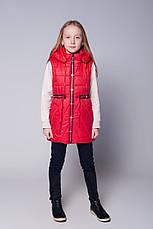 Модная детская подростковая куртка-жилетка весна-осень 134-152, фото 2