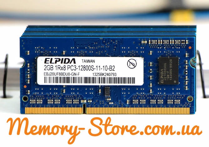 Оперативная память для ноутбука DDR3 2Gb PC3-12800s 1600MHz, sodimm, фото 2