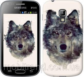Чехол на Samsung Galaxy S Duos s7562 Волк-арт