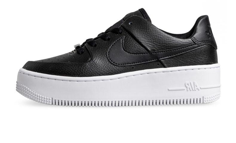 172b8793 Оригинальные кроссовки Nike Air Force 1 Sage Platform Black/White (ART.  AR5339 002