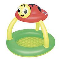 Бассейн надувной детский с дном и защитой от солнца BESTWAY 52181