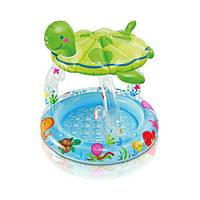 Бассейн Черепашка надувной детский с навесом INTEX 57119