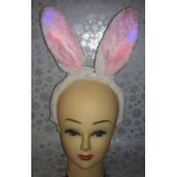 Уши зайца меховые - светящиеся