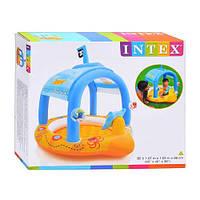 Детский надувной бассейн Маленький капитан с навесом INTEX 57426