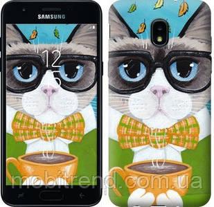 Чехол на Samsung Galaxy J3 2018 Cat&Coffee
