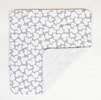 Детское хлопковое одеяло BabySoon Микки серый 80 х 85 см (272)