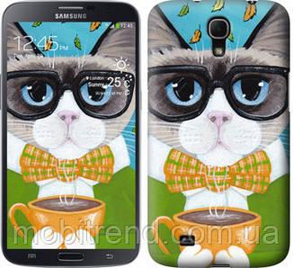 Чехол на Samsung Galaxy Mega 6.3 i9200 Cat&Coffee