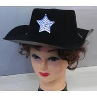 Шляпа шерифа пластик