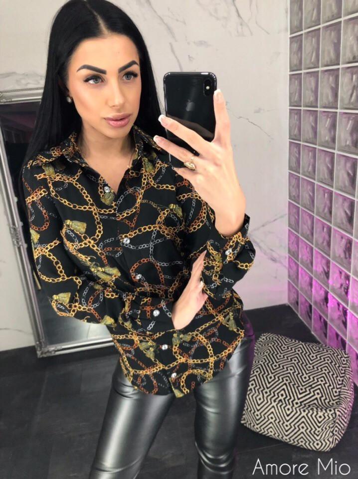 Женская принтованная рубашка из шифона 73rz216