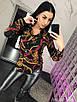 Женская принтованная рубашка из шифона 73rz216, фото 2