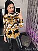 Женская принтованная рубашка из шифона 73rz216, фото 3