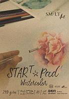Склейка для акварели STAR T А5, 240г/м2, 20л, натуральний белий, SMILTAINIS