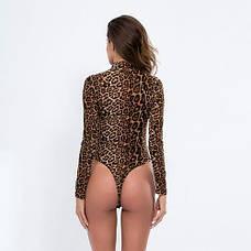 Боди леопардовое на длинный рукав -172-02, фото 2