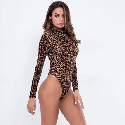 Боди леопардовое на длинный рукав -172-02