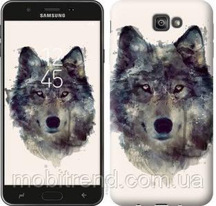 Чехол на Samsung Galaxy J7 Prime Волк-арт