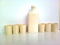 """Подарочный набор. Графин """"Праздничный белый"""" 0,25л и 6 гранёных стаканов, фото 1"""